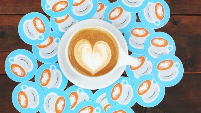 stickers met kop koffie