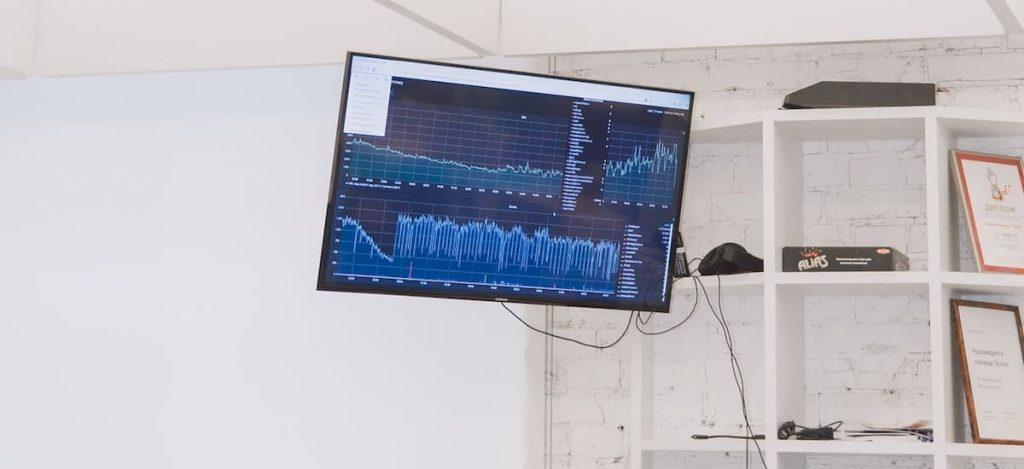 KPI dashboard op kantoor